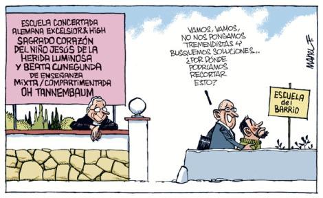 recortes escuela pública-concertada